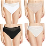 Vanity Fair Cotton Beautifully Smooth With Lace HI-Cut Panties 13129